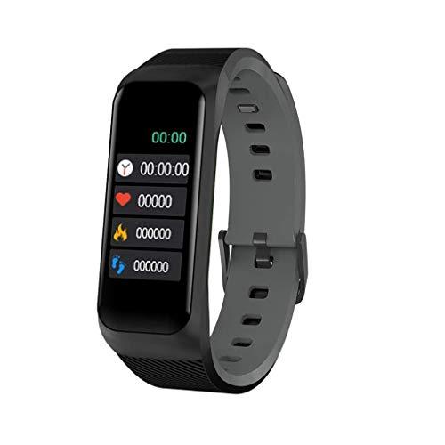 Gnaixyc Pulsera Actividad Inteligente, Impermeable IP67 Pulsera Inteligente, Monitor Ritmo Cardíaco Y Sueño, Smartwatch Android Y iOS,Negro