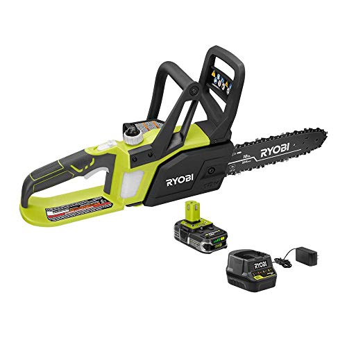 Ryobi ZRP547 ONE Plus 18V Cordless 10 in. Chainsaw with LithiumPlus Battery