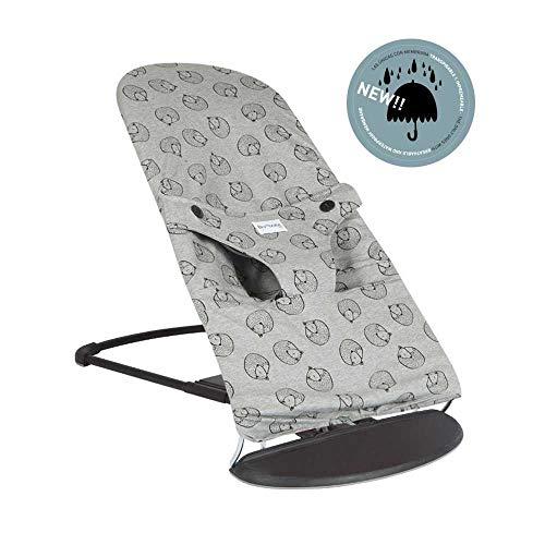 BAOBABS BCN - Funda para Hamaca Babybjörn Impermeable, Transpirable y Muy Cómoda | Funda de Tela para Babybjorn Bliss | Lavado Fácil - Máxima Calidad | Hecha en España | Estampado Grey & Black Fox