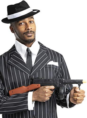 Funidelia | Ametralladora de gángster para Hombre y Mujer ▶ Años 20, Cabaret, Charleston, Décadas - Negro, Accesorio para Disfraz