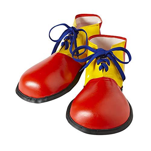 Widmann 9146P Extra große Clown Schuhe, Unisex– Erwachsene, Gelb/Rot/Blau, Taglia unica