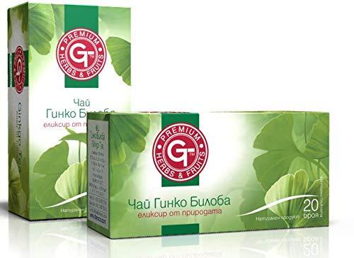 Ginkgo Biloba Tee-Elixier der Natur 20 Teebeutel