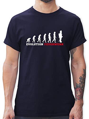 Feuerwehr - Evolution Feuerwehr - L - Navy Blau - t-Shirt Feuerwehr Evolution - L190 - Tshirt Herren und Männer T-Shirts
