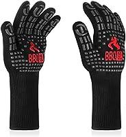Inkbird BBQ Handschoenen 800 Graden, Siliconen Structuur met Anti-slip Hittebestendige Grill Handschoenen voor BBQ,...