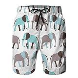 Pantaloncini da Nuoto Estivi per Ragazzi Esecuzione di bauli Modello Senza Cuciture Animale con Coulisse di Elefante XL