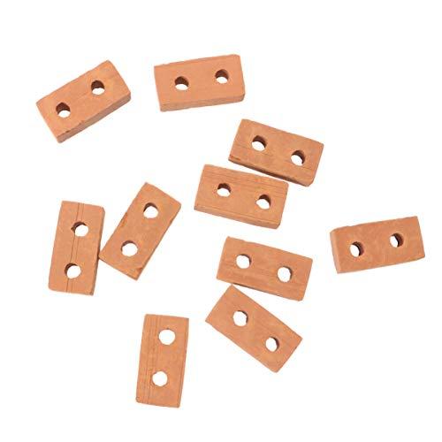 EXCEART 50 Piezas de Ladrillos de Pared de Ladrillo en Miniatura Mini Modelo de Ladrillos Rojos Mesa de Arena Micro Paisaje Diy Casa de Muñecas Accesorios de Jardín de Hadas