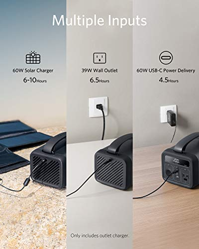 Anker Portable Power Station, 213Wh/57600 mAh PowerHouse 200 with 110 AC Outlet/30W USB-C Power Delivery for Camping, Road Trips, Emergency, and More