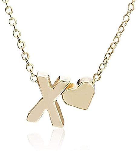 Zaaqio Collar Joyas Mujeres Colgante Collar Corazón Forma de Personalidad Carta Colgante Collar Damas