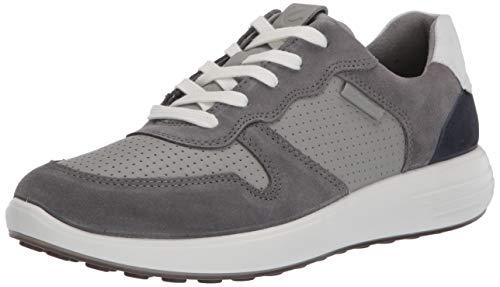 ECCO SOFT7RUNNERM, Sneaker Uomo, Grigio (Titanium/Wild Dove/White/Navy 51837), 40 EU