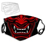 Laintock Demon Evil Red Samurai Dust Cover Mouth Face Fliter Reusable Wind Proof Outdoor Cover