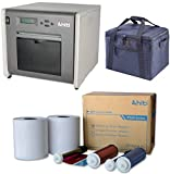 HiTi P525L Compact Dye Sub Event Photo Printer, for Booth Portrait Printing - Bundle with HiTi 4x6Media for Photo Printer P520 & P520L + Slinger Padded Printer Carrying Case