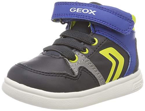 Geox B Djrock A, Scarpe da Ginnastica Basse Bimbo, Blu (Navy/Lime Green Cf43s), 25 EU