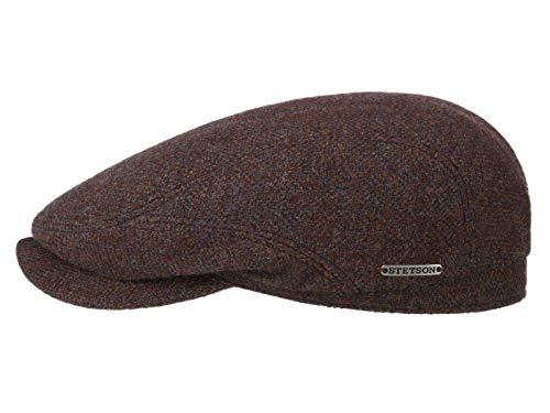 Stetson Driver Cap Wool Herringbone - Gorra plana de lana...