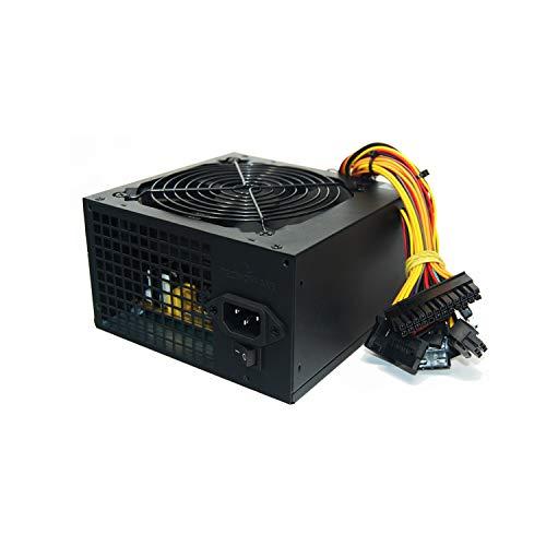 Tecnoware Alimentatore ATX per PC - Ventola Silenziosa da 12 cm - Connettori 3 x SATA, 1 x 24 Poli, 1 x 12V, 4 + 4 Poli, 3 x Molex, 1 x Floppy - Potenza Reale 650 W