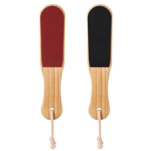 Lurrose 2 piezas Exfoliante de doble cara para pies de exfoliación de pies de pedicura para la piel muerta