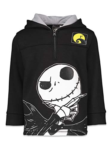 Disney Nightmare Before Christmas Toddler Boys Half-Zip Hoodie 4T Black