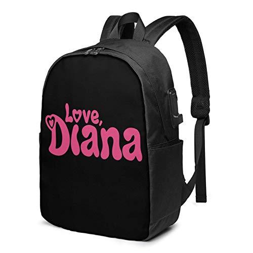 IUBBKI Bolsa para computadora mochila USB Ki-Ds D-Ian-A Sh-Ow 17 Inch Laptop Backpack For Men & Women,Travel/School Backpack With Usb Charging Port & Headphone Interface