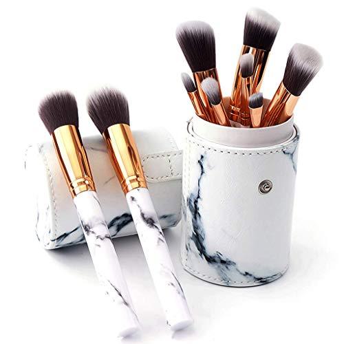 Maquillage Brosse Marbre 10 Packs Outils De Beauté Portable Long Rod