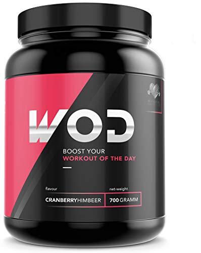 Heart & Barbell Pre Workout Booster (WOD) - Hochdosierter Trainingsbooster für Athleten und Sportler - Perfekt geeignet für Kraftsport und Bodybuilding (Cranberry-Himbeer)