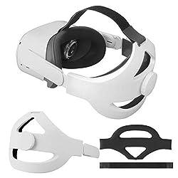 Diseño único: especialmente diseñado para los visores Oculus Quest 2 VR, este diseño ergonómico resuelve perfectamente el problema de apretar la cara de la diadema Oculus Quest 2 original. Reemplazo para la correa Oculus Quest 2 Elite. Toque cómodo: ...