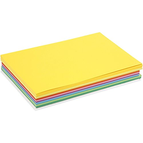 20 Blatt Bastelkarton DIN A2 (42 x 59,4 cm) Frühlingsfarben-artdee®-180g/m²
