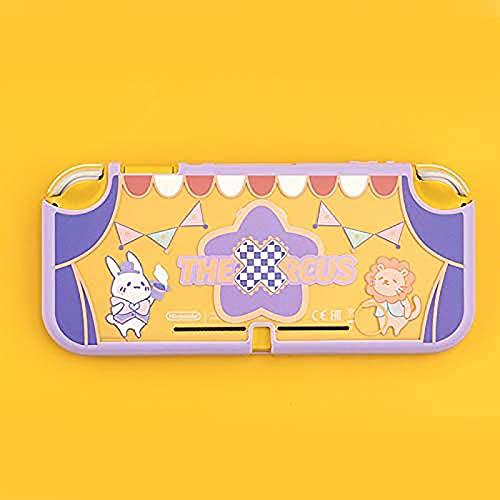 Hengqiyuan Estuches para Switch Lite Shell Translúcido Frosted Estuche Rígido Estuche Protector para Nintendo Switch Lite Accesorios De Consola De Juegos Cubierta Protectora,Púrpura