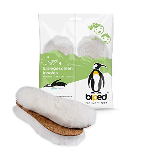 biped Premium Lammfell Einlegesohlen für Kinder mit Kork Unterseite z1024(30-31)