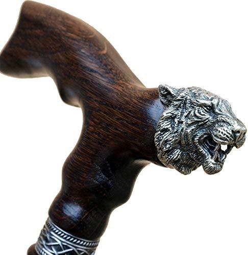 Custom Walking Cane for Men - Tiger King - Unique Wood Canes Fancy Walking Stick