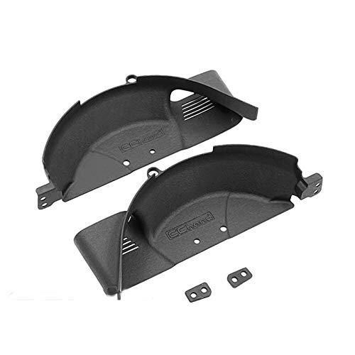 DAPENGNIAO Nylon Rear Wheel Cover Splash Mudguard Fender Suitable for Capo JKMAX V1.0 V2.0 2020 RC Car Parts Accessories Accessories (Color : Black)