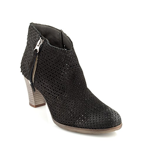 Felmini - Damen Schuhe - Verlieben Omega A032 - Hochhackige Stiefeletten - Echtes Leder - Schwarz - 36 EU Size