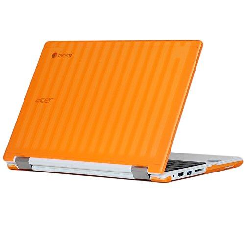 "mCover Carcasa Dura/Fundas duras SÓLO para portátil de 13,3"" Acer Chromebook R13 CB5-312T Serie Ordenador portátil (R13 CB5-312T Naranja)"