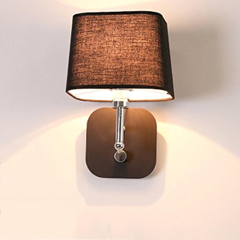 Firsthgus E27 Schlafzimmer Nachttischlampe las das einfache moderne Ganglicht, das mit dem Schalter geführt wurde, schwarz, ohne 5 Watt Fernbedienung E14 zu lesen