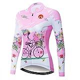 JPOJPO Cycling Jersey Women Long Sleeve Tops Bike Shirt Mountain Bicycle Jacket Girls Biking Shirts with...