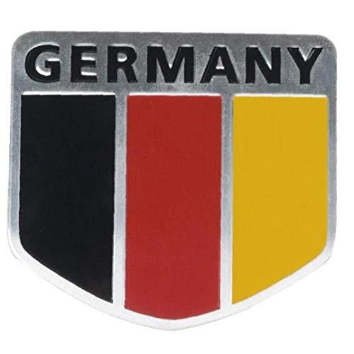 TOSSPER 3D-Metall, Aluminium, Deutschland-flaggen-Abzeichen Grille Emblem-Auto-Aufkleber-abziehbild-universal-Dekoration