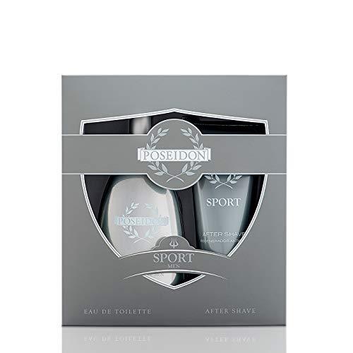 Poseidon Sport Men Coffret 2 Produits : Eau De Toilette Vaporisateur 150ml et after Shave 150ml