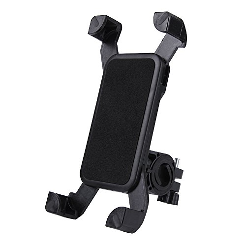 Domybest - Soporte Universal para teléfono móvil con Mando de Bicicleta y Moto, Color Negro