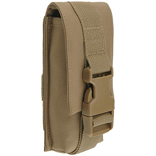 Brandit Molle Multi Pouches - Belt Bags, Accessory Pockets, Tool Pockets, Sizes Small, Medium, and Large in 6 Colours, Adult (Unisex), 8052, camel, Large, L