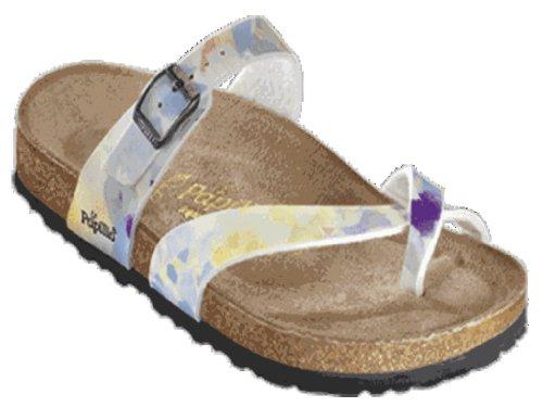 Papillio Tabora Damen Sandalen Weichbettung Birko-Flor, Stroke, Größe 35 mit normalem Fußbett