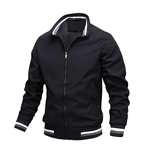 Chaqueta de los hombres de primavera y otoño bombardero chaqueta casual cremallera chaqueta de los hombres chaqueta de los hombres