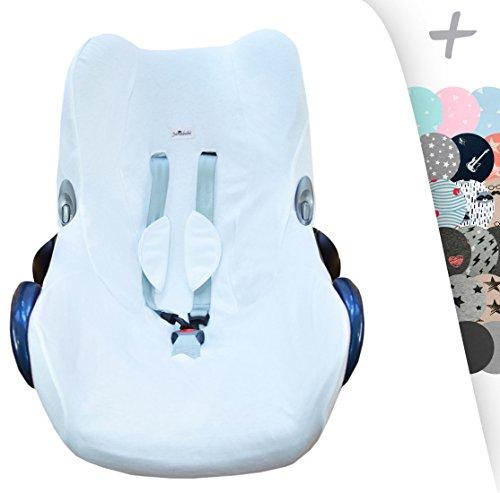 JANABEBE Funda para Maxi Cosi Cabriofix, silla de coche gr 0 (White)