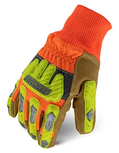 Ironclad Impact Leather Winter Insulated Cut Resistant Work Gloves; Impact