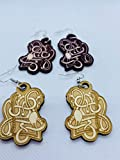 Urnes Style Snake Viking Wooden Earrings Made from Sustainable Birch