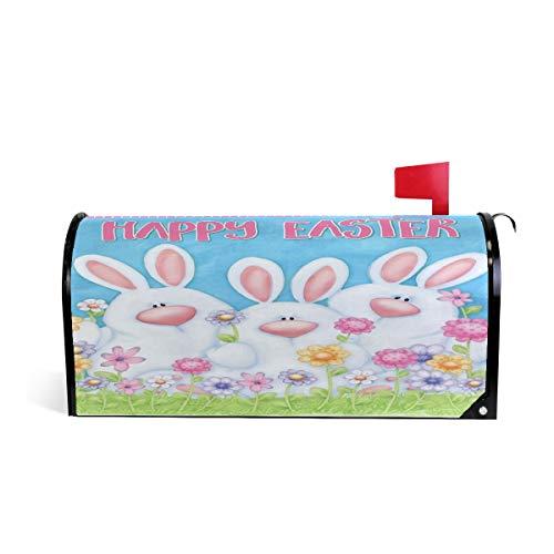 Wamika Happy Easter Bunny Boîte aux Lettres aimantée Motif Floral coloré 64.7x52.8cm Multicolore