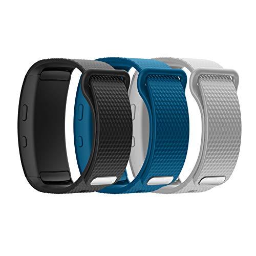 Syxinn Gear Fit 2/Fit 2 Pro Armband, Ersatz Verstellbare Uhrenarmbänd Silikon Sports Armbänder für Gear Fit 2 Pro SM-R365 /Gear Fit 2 SM-R360 (Klein(126mm-175mm), B, 3 Stück)