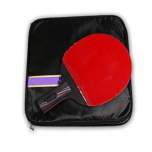 Bate de Tenis de Mesa Mesa de ping pong de carbono Formación Raqueta Raqueta solo componente juego raquetas tiro horizontal Straight Shot Pala de Ping Pong ( Color : Multi-colored , Size : 15x