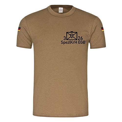 3 FschJgRgt 26 SpezlKrH EGB Fallschirmjäger Regiment Kompanie T-Shirt #17012, Größe:3XL, Farbe:Khaki