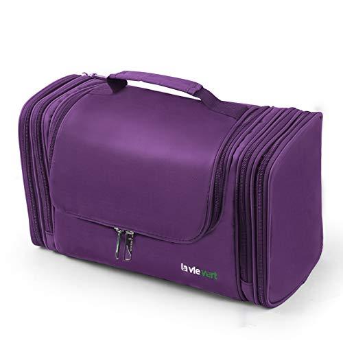 Bolso Lavievert para artículos de tocador, gran capacidad, Púrpura