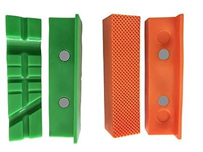 Mordazas protectoras magnéticas para tornillo de banco Garmills – Pack de 2, 1 juego con múltiples ranuras y 1 juego estándar de 113m