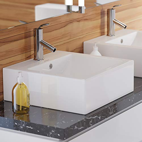 Cheapest Price! Swiss Madison Well Made Forever SM-VS276 Voltaire Wall Hung Sink, Glossy White