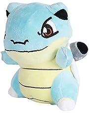 Q Version Pokemon Blastoise Plush Toys Dock Cartoon Cuddled Animals Mjukt kudde Presenter för barn 18cm